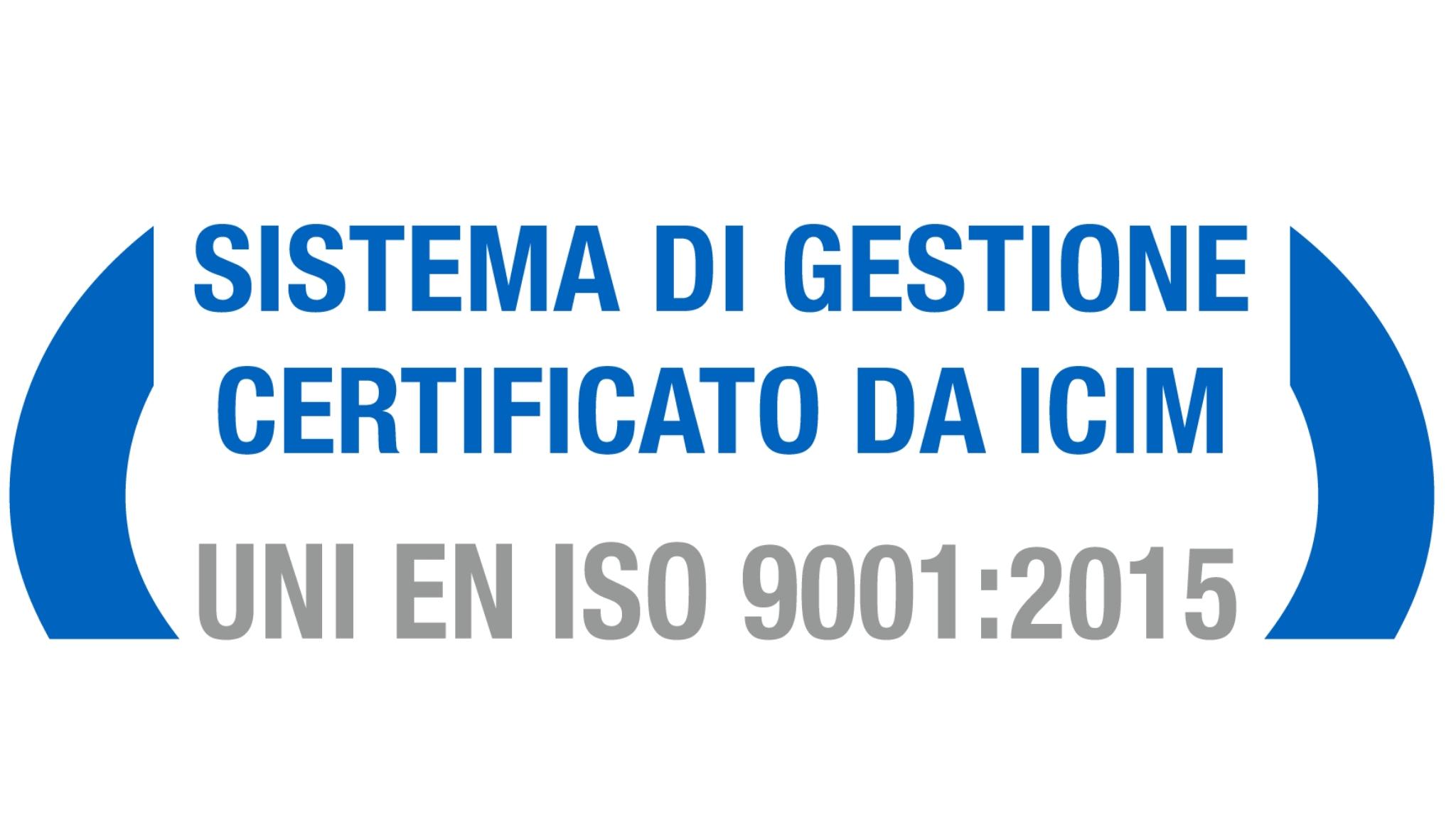 Nuovo Certificato ISO